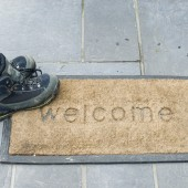 Welcome Mat And Boots
